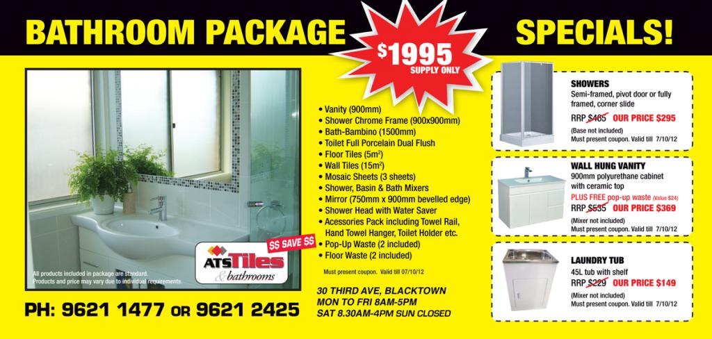 ATS Tiles and Bathroom Online Coupon & Discount Voucher
