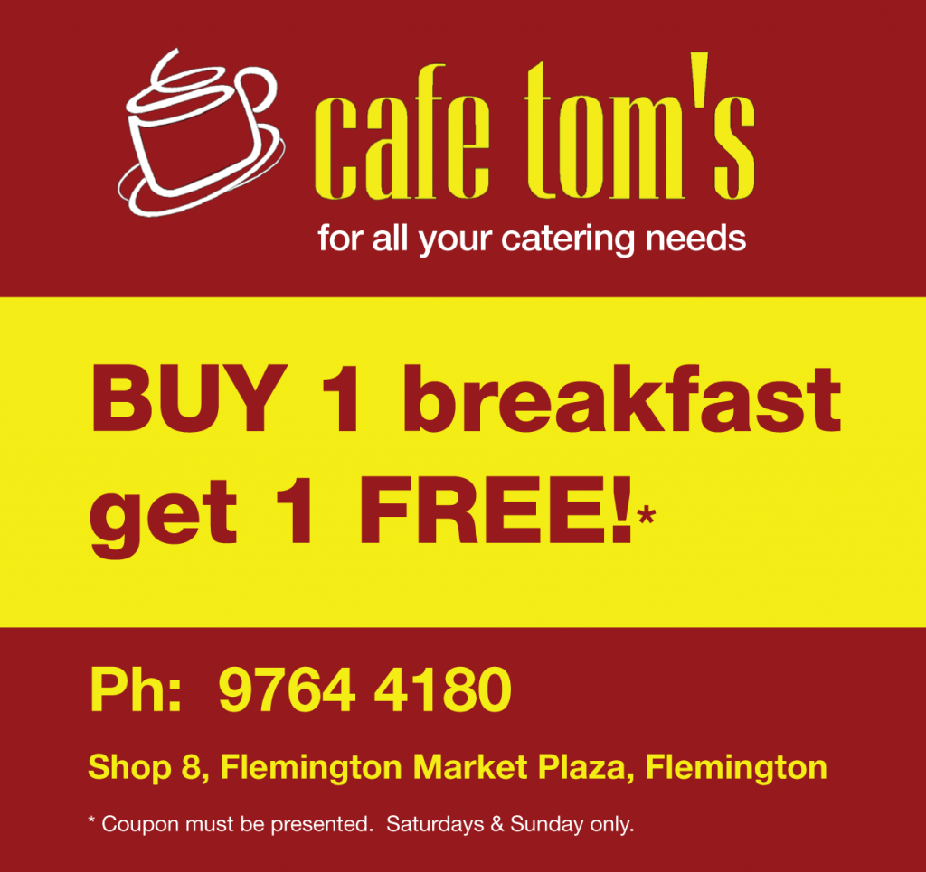 Cafe Tom's Discount Offer