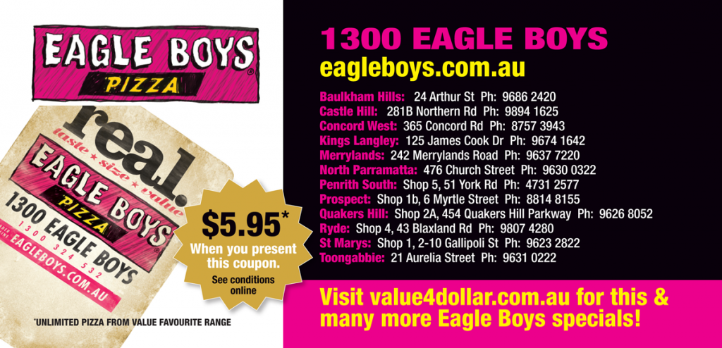 Eagle Boys Pizza Discount Coupons