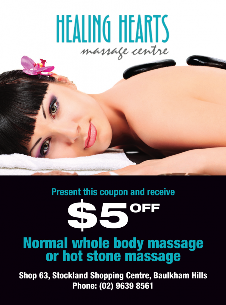 Healing Hearts Massage Centre Online Discount Coupon