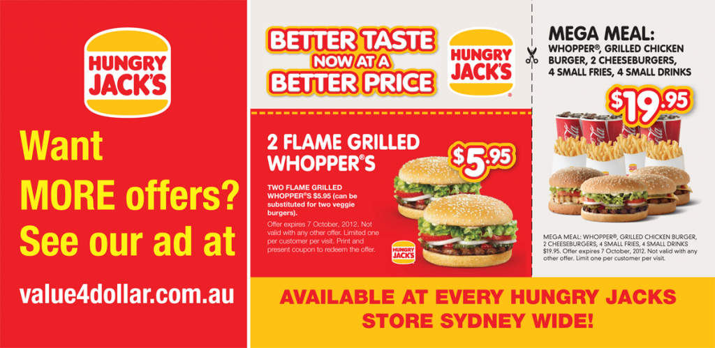 Hungry Jacks Restaurants - Sydney Wide