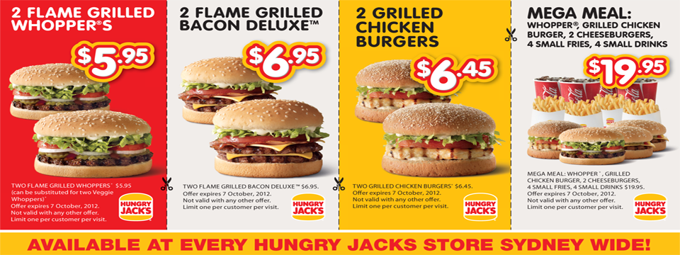 Great value meals from only $5.95!