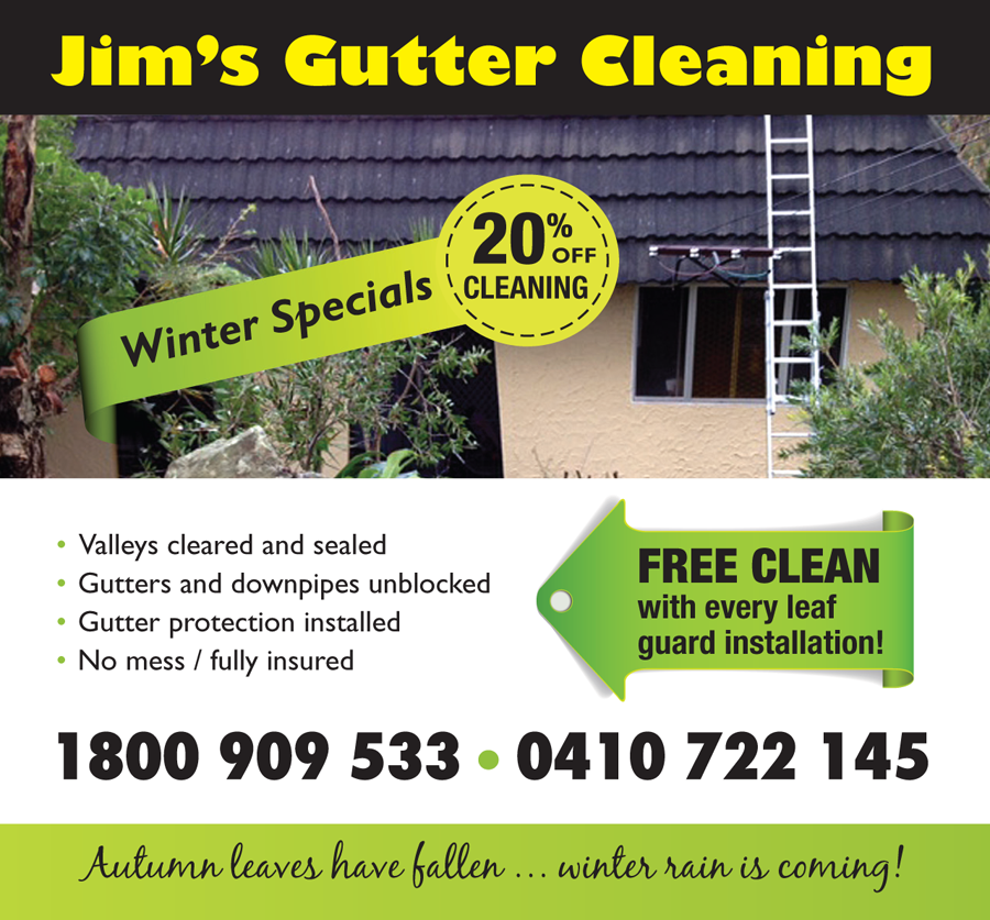 Jim's Gutter Cleaning Winter Specials!