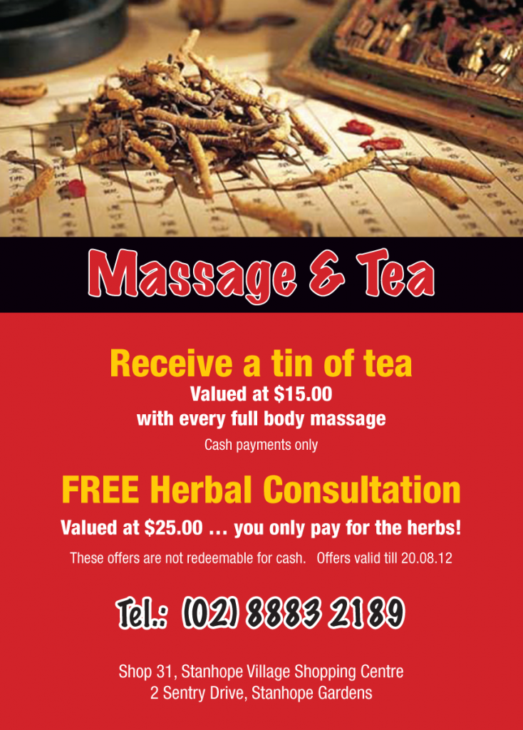 Massage & Tea Special Offer