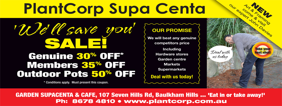 PlantCorp Supa Centa 'We'll save you' SALE!