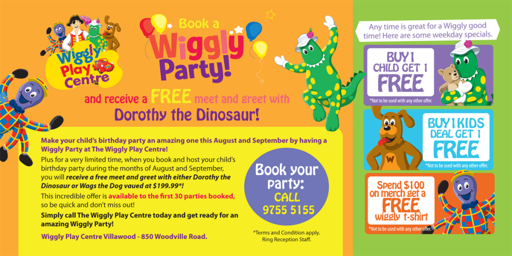 Wiggly Play Centre Party Special Coupon Offer